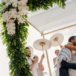 A Made With Love Bride for a Destination Jewish Wedding in Tropical Paradise with an Orchid Chuppah at the Conrad Hotel Koh Samui, Thailand