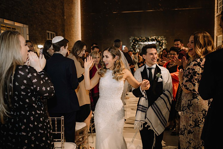 Jewish wedding Hackney Town Hall London UK