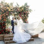 An Idan Cohen Bride for a Colorful Modern Rustic Jewish Wedding at Hummingbird Nest Ranch, Simi Valley, California, USA
