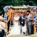 A Craig Braybrook Bride for an Australian-Spanish-Indian Jewish Wedding at the Swiss Italian Lavandula Farm in Daylesford, Australia