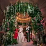 A Pronovias Bride for a Jewish Wedding with a Wisteria Chuppah at The Midland Hotel, Manchester, UK