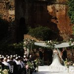 A Louise Marie Bride for a Sunshine Party Jewish Wedding at Finca La Concepcion, Marbella, Spain