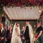 A Suzanne Neville Bride for a Kosher Chrismukkah Jewish Wedding at the St. Pancras Renaissance Hotel,  London, UK