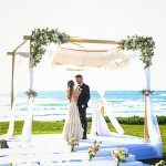 A Berta Bride for a Sunset Jewish Wedding with a Very Special Chuppah at Kochav Hayam in Caesarea, Israel