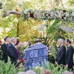 A Grace Loves Lace Bride for a Laid-Back Garden Jewish Wedding at Holly Farm, Carmel, California, USA