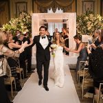 A Monique Lhuillier Bride for a Glam Jewish Wedding at The Pierre Hotel, NYC, USA