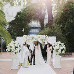 An Elegant Jewish Wedding in White at Finca La Concepcion, Spain