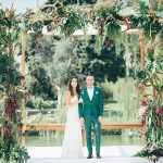 A Lihi Hod Bride for a Tropical Boho Jewish Wedding at Ronit Farm, Kfar Shmaryahu, Israel