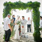 A Delila Fox Bride for a Modern Tropical Jewish Wedding at Villa Ban Suriya, Koh Samui, Thailand