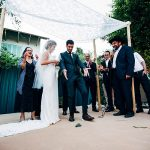 A Julie Vino Bride for a New Orleans-Meets-Israel Jewish Wedding in a Private House Outside Tel Aviv, Israel
