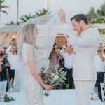 An Adam Zohar Bride for a Laid-Back Israeli Jewish Wedding on the Beach at Al Hayam, Caesarea, Israel