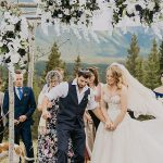 A Galia Lahav Bride for an Interfaith Jewish Wedding at the Pomeroy Delta Kananaskis Hotel, Alberta, Canada