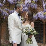 A David's Bridal Bride for a Jewish Wedding Steeped in History at The Old Palace, Hatfield House, Hatfield, UK
