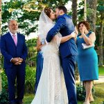 A BHLDN Bride for a Literary Jewish Wedding with DIY Touches at the Bride's Parents' Family Home in Falmouth, MA, USA