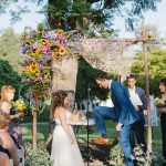 A WToo by Watters Bride for a DIY Jewish Wedding at Newhall Mansion, Piru, California, USA