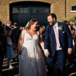 An Essense of Australia Bride for an Interfaith Jewish Wedding at Trinity Buoy Wharf, London, UK