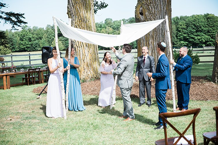 Jewish wedding rustic DIY budget groom's parents' backyard Door County, WI, USA_0025