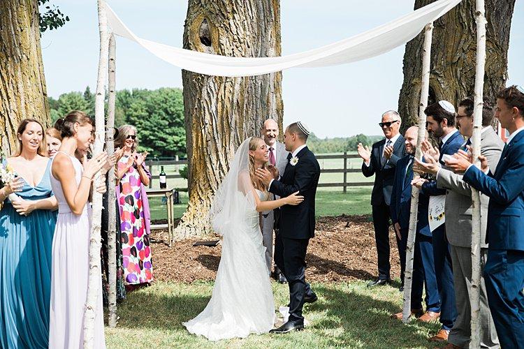 Jewish wedding rustic DIY budget groom's parents' backyard Door County, WI, USA_0070