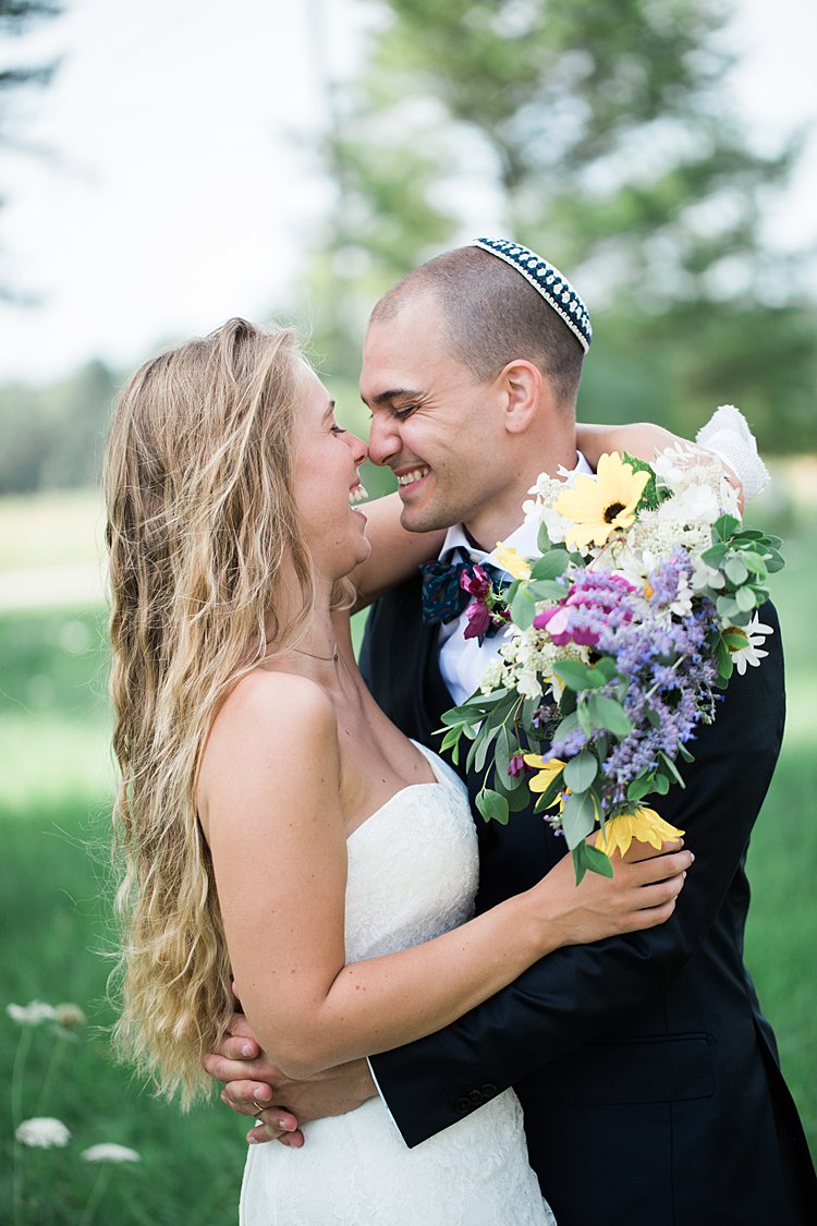 Jewish wedding rustic DIY budget groom's parents' backyard Door County, WI, USA_0070