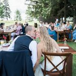 A David's Bride for a Rustic DIY Backyard Jewish Wedding on a Budget in Door County, Wisconsin, USA