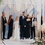 An Alon Livne Bride for a Shabbat Dinner-Inspired Jewish Wedding with a Macrame Chuppah at Jonah Club, Netanaya, Israel