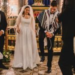 A Jesus Peiro Bride for an Elegant Jewish Wedding with a Roaming Band at New West End Synagogue and One Marylebone, London, UK