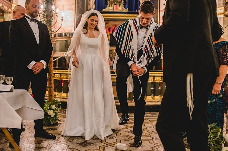 Jewish wedding New West End Synagogue and One Marylebone, London, UK