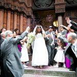 A David's Bridal Bride for a Disney Meets Midsummer Night's Dream Jewish Wedding at New West End Synagogue and Jumeirah Carlton Towers, London, UK