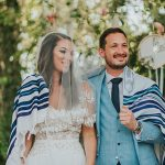 A Limor Rosen Bride for a Festival Chic Jewish Wedding at The Q, Glil Yam, Israel