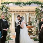 A Hayley Paige Bride for an Interfaith Jewish Wedding with a Starbucks Kiddush Cup at The Addison, Boca Raton, Florida