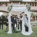 An Enzoani Bride for an Elegant Outdoor Jewish Wedding at Castle Green in Pasadena, CA, USA