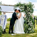 A Sassi Holford Bride for an Elegant Countryside Jewish Wedding at  High Billinghurst Farm, Surrey, UK