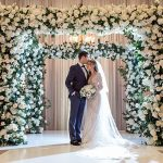 A Berta Bride for a Spiritual Glam Jewish Wedding at the Millennium Biltmore, Los Angeles, CA, USA