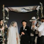 A Noa and Ayelet Bride for a Masquerade Jewish Wedding at Beit Shmuel, Jerusalem