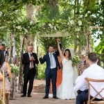 An Enzoani Bride for a Forest Garden Jewish Wedding at Hacienda Del Alamo, Malaga, Spain