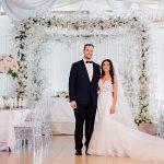 An Enzoani Bride for an Elegant Jewish Wedding in White at Farmington Hills Manor, Farmington Hills, Michigan, USA