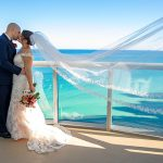 An Allure Bridals Bride for a Jewish Wedding with Light Up Sneakers at Beth Torah Benny Rok Campus, Aventura, Florida