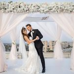 A Martina Liana Bride for a Sunset Jewish Wedding at the Marriott Marina del Rey, California, USA