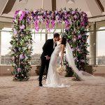 A Svetlana Bridal Bride for a Modern Winter Jewish Wedding at Glen Island Harbor Club, New Rochelle, New York, USA