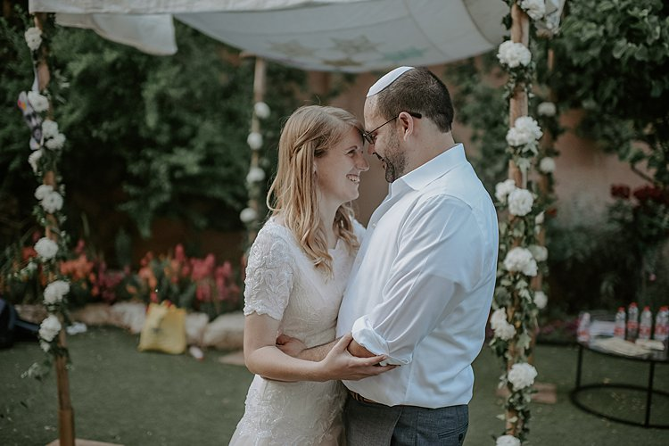 Beth and Mattan, Corona wedding, friends garden in Katamon, Israel