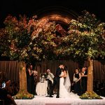 A Monique Lhuillier Bride for an Autumnal Luxe Jewish Wedding at Cipriani 42nd Street, Manhattan, NY, USA