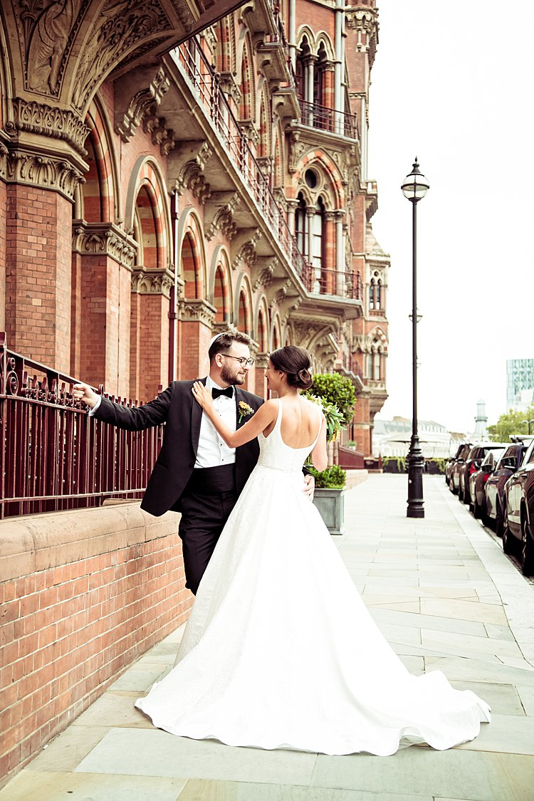 Laura and Josh, St Pancras Renaissance Hotel, London