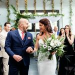 A Vera Wang Bride for a Brooklyn Meets Tropical Paradise Jewish Wedding at 501 Union, Brooklyn, New York, USA