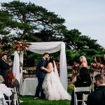 A Martina Liana Bride for a Backyard Jewish Wedding in Philadelphia, Pennsylvania USA