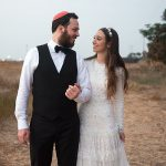 A Needle and Thread Bride for a Backyard Jewish Wedding in Kfar Chabad, Israel