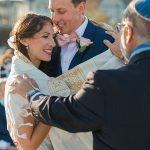 A Calla Blanche Bride for a Beachy Jewish Micro Wedding at Ocean Place Resort & Spa, Long Branch, New Jersey, USA