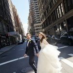An Anne Barge Bride for a City Chic Jewish Wedding at Gotham Hall, NYC, New York, USA