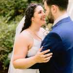 A Rebecca Schoneveld Bride for a Magical Backyard Jewish Minimony in New York, USA