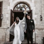A Liz Martinez Bride for a Last-Minute Pandemic Jewish Wedding at Villa Nova, Beit Nehemiah, Israel
