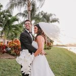 An Amsale Bride for a Backyard Jewish Micro Wedding in Boynton Beach, Florida, USA